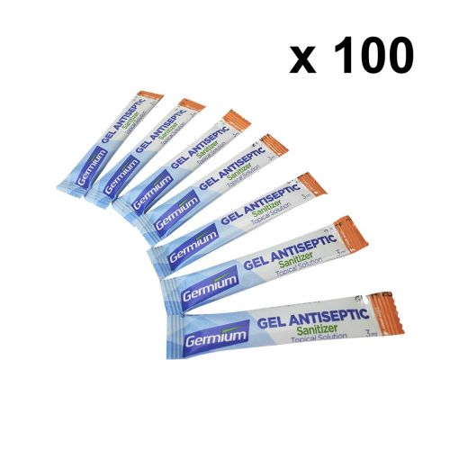Germium GRS300 3-Gram Single Use Stick, 70% Isopropyl Alcohol, 100 Sticks/Pack