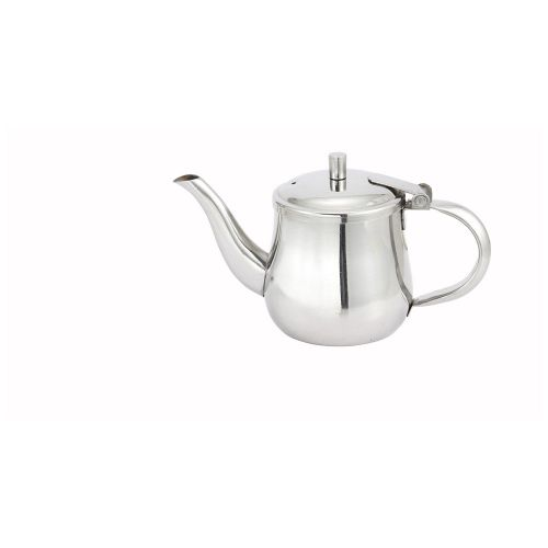 Winco GS-10, 10-Ounce Stainless Steel Gooseneck Server with Cover