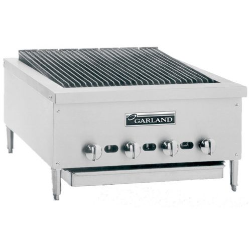Garland GTBG48-NR48, 48-Inch Wide Heavy-Duty Gas Counter Charbroiler with Non-Adjustable Grates, NSF, AGA, CGA
