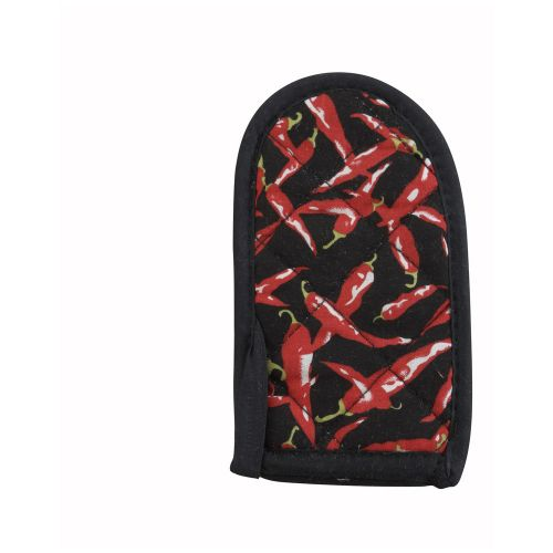 Winco HDH-6C, Cotton Chili Pepper Design Pot Handle Holder, 1 Dozen