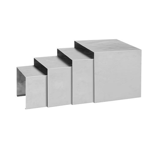 Winco HRS-4, 18-8 Stainless Steel Display Risers, 4-Piece Set