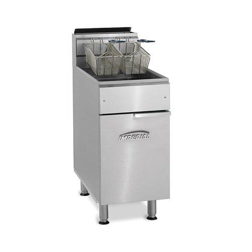 Imperial IFS-40-OP, 2-Basket Floor Open Pot Gas Fryer, NSF, AGA, CGA