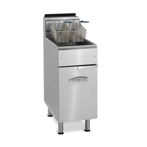 Imperial IFS-50-OP, 2-Basket Floor Open Pot Gas Fryer, NSF, AGA, CGA