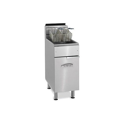 Imperial IFS-50, 2-Basket Floor Tube Fired Gas Fryer, NSF, AGA, CGA (Casters are not included)