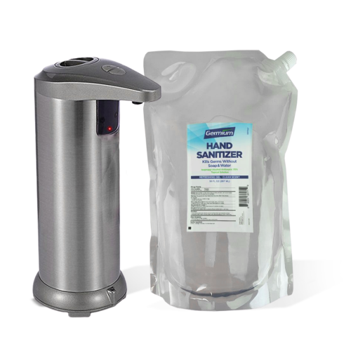 SET: Automatic 9.5 Oz Countertop Dispenser and 30 Oz Hand Sanitizer