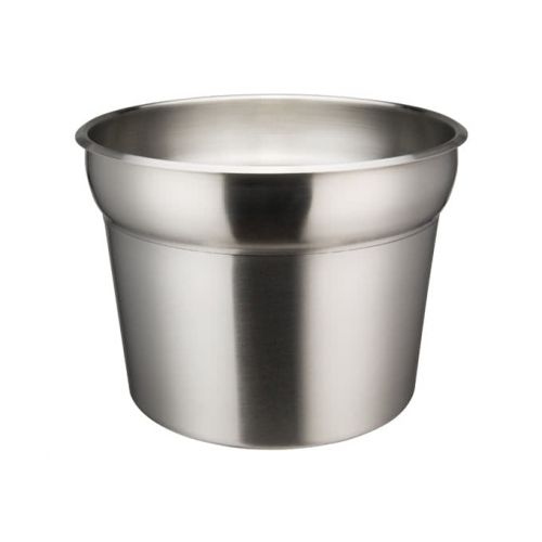 Winco INSN-11 11 Qt Stainless Steel Round Inset