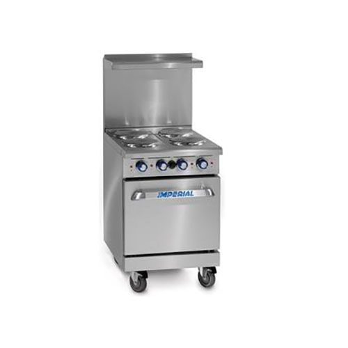 Imperial IR-4-E, 24 inch Electric Range, CETLus, ETL, CE (Casters are not included)