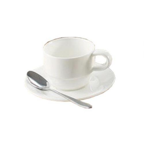 Yanco JS-004 4.5-Inch Porcelain Jersey Add Cup Saucer, 36/CS