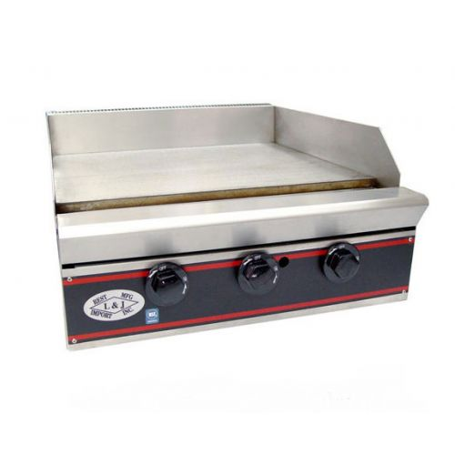 L&J JS-2418, Two Burner Countertop Gas Griddle, NSF