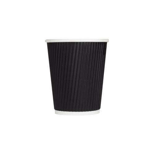 Karat CKRC508B 8 Oz Black Ripple Hot Cups, 500/CS