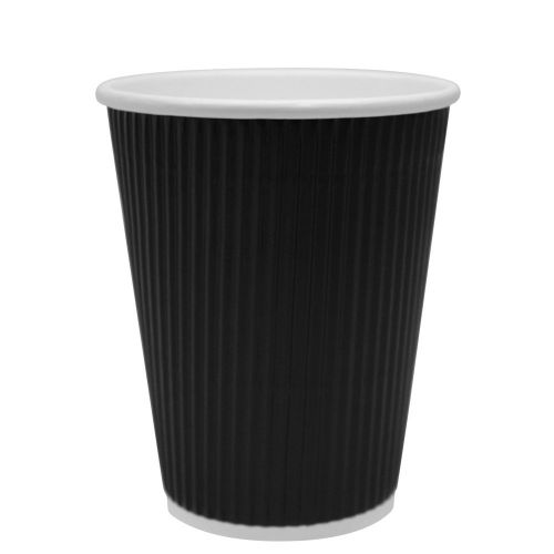 Karat CKRC512B 12 Oz Black Ripple Hot Cup, 500/CS