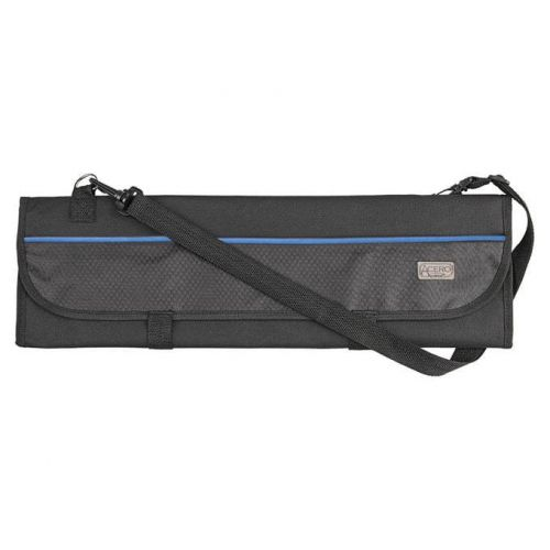 Winco KBG-8, 8-slots Polyester Cutlery Knife Bag with Handle, Roll, Black