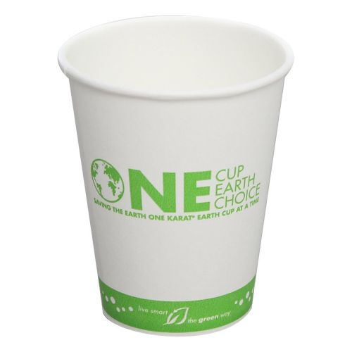 Karat KEK508, 8-Ounce White Hot Cup, 1000/CS, Cedar Grove
