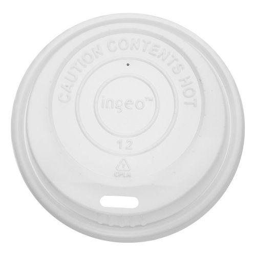 Karat KEKDL508, Compostable Sipper Dome Lid for 8-Ounce Hot Cups, 1000/CS, BPI