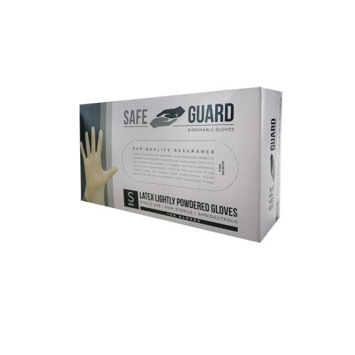 SafeGuard LGSC-X, Powdered Latex Gloves, Small, 100/CS