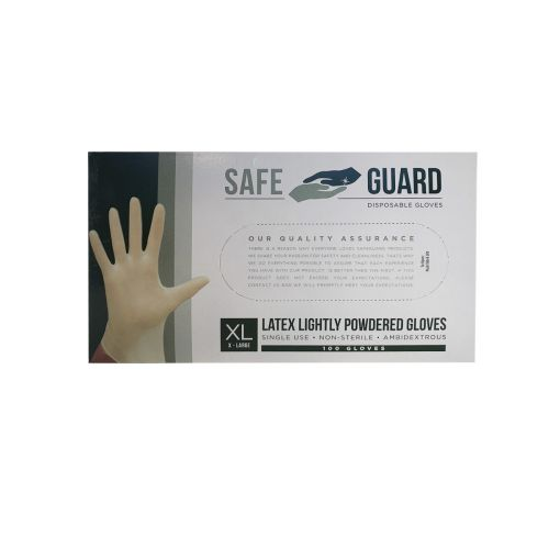 SafeGuard LGXC-X, Powdered Latex Gloves, X-Large, 100/CS