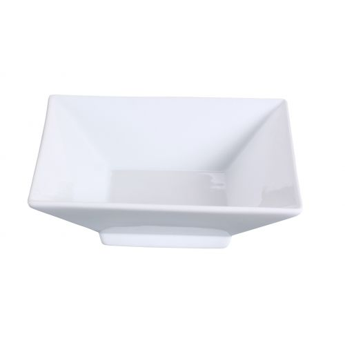 Yanco Lk 404 4 Oz 4 5 Inch Lion King Porcelain Square Super White Dish With Foot 36 Cs Mcdonald Paper Restaurant Supplies