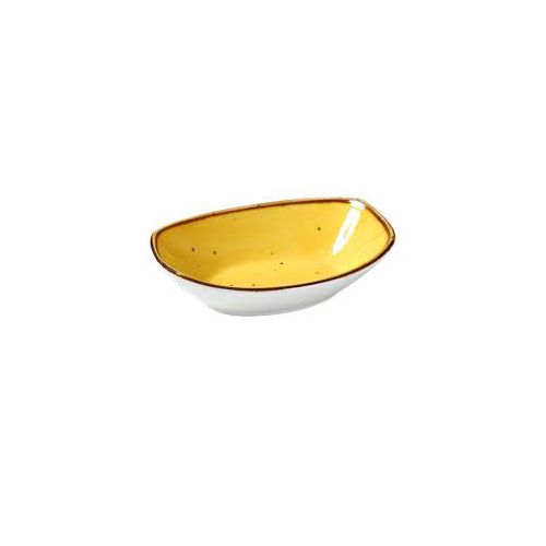 Yanco Ly 405byl 5 Oz 5 5x3 75x1 375 Inch Lyon Yellow Porcelain Small Oval Yellow Bowl 36 Cs Mcdonald Paper Restaurant Supplies
