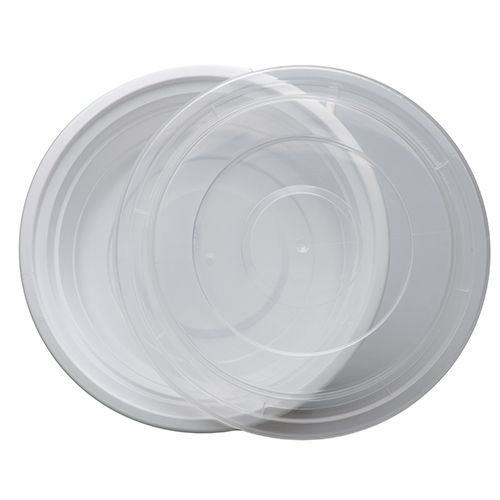 SafePro MC718-W, 16 Oz. Round Microwaveable Containers Combo, White Bottom, 150/CS