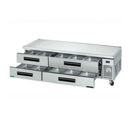 Maxx Cold MCCB72, 70x30.5x25.5-Inch Refrigerated Chef Base, 14.3 Cu. Ft, 379 Watt, Self-Contained, ETL, ETL Sanitation