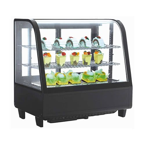 Marchia MDC100 27-inch Refrigerated Countertop Display Case, Black