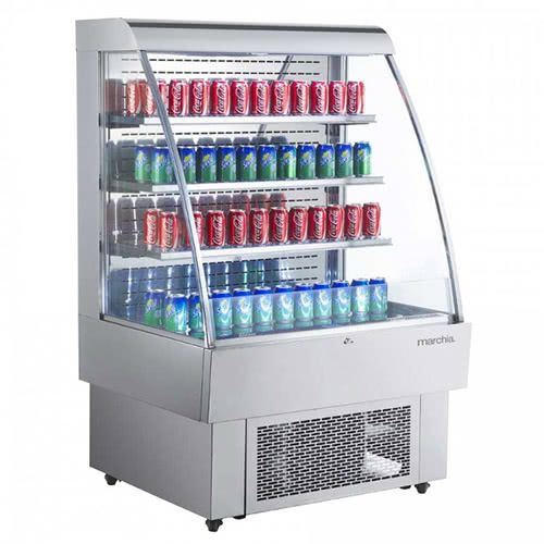 Marchia MDS380 40-inch Open Refrigerated Display Merchandiser. 60-inch Height S/S