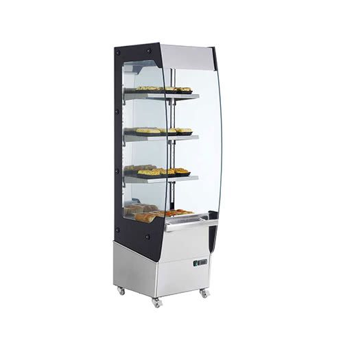 Marchia MHS220 24-inch Open Heated Display Merchandiser, 68-inch Height