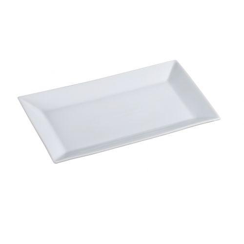 Yanco Ml 214 14x8 Inch Mainland Porcelain Rectangular White Plate Dz Mcdonald Paper Restaurant Supplies