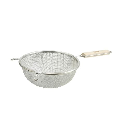 Winco MST-8D, 8-Inch Medium Double Mesh Strainer