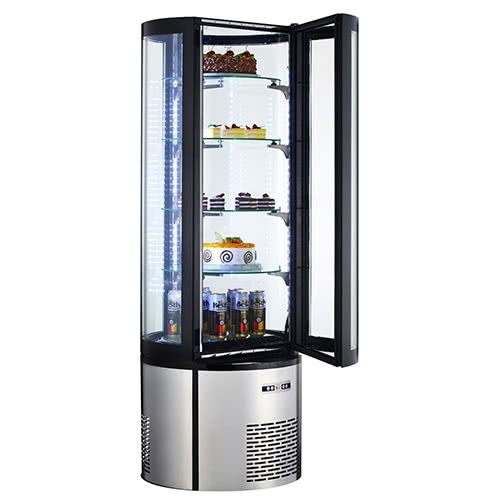 Marchia MVSR400 Vertical Standing Refrigerated Bakery Display, Curved Glass