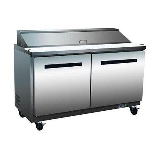 Maxx Cold MXCR-48M, X-series 48x34.5x43-Inch Megatop Refrigerated Sandwich/Salad Unit, 12 Cu. Ft, 805 Watt, Self-Contained, UL Listed