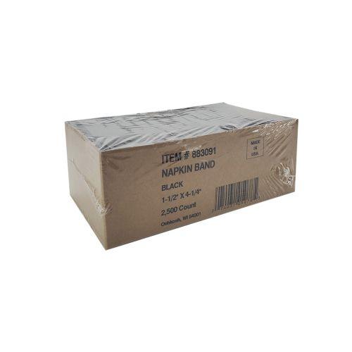 NB130 Black Paper Napkin Band, 2500/PK