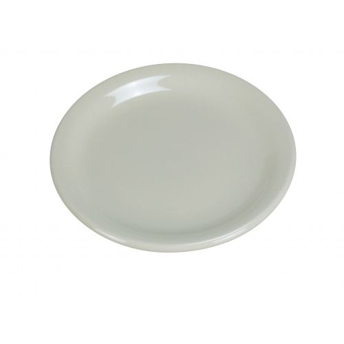 Yanco NR-22 8.375-Inch Normandy Melamine Round American White Plate With Narrow Rim, 36/CS