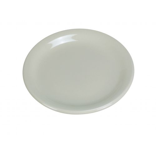 Yanco NR-5 5.5-Inch Normandy Melamine Round American White Plate With Narrow Rim, 36/CS