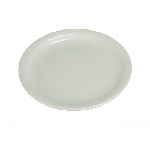Yanco NR-8 9-Inch Normandy Melamine Round American White Plate With Narrow Rim, 24/CS