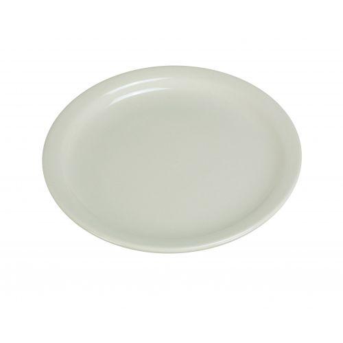 Yanco NR-9 9.5-Inch Normandy Melamine Round American White Plate With Narrow Rim, 24/CS