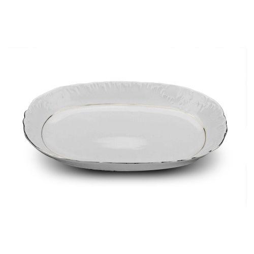 Cmielow ODPL33-X, 13-Inch Oval Platinum Band Porcelain Dish, EA