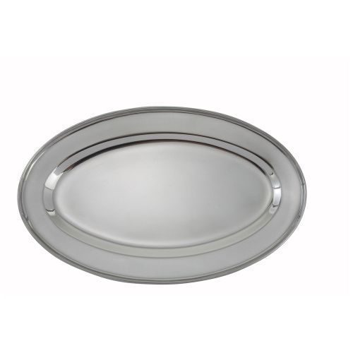 Winco OPL-16, 16x10.25-Inch Heavy Stainless Steel Oval Platter