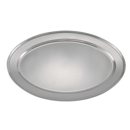 Winco OPL-22, 21.75x14.5-Inch Heavy Stainless Steel Oval Platter