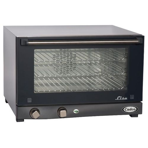 Cadco OV-013 Medium Duty Half Size Convection Oven with Manual Controls, 3-shelf, 120V, EA
