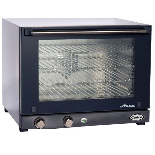 Cadco OV-023 Medium Duty Half Size Convection Oven with Manual Controls, 4-shelf, 220V, EA