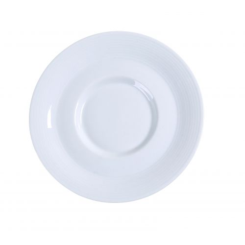 Yanco PA-002 5.5-Inch Paris Porcelain Round Super White Saucer With Smooth Surface, 36/CS