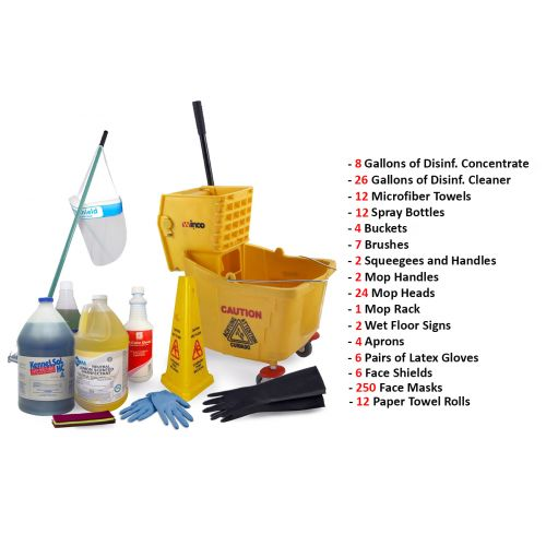 Office, School, Industrial Cleaning / Disinfecting Package (160 Items)