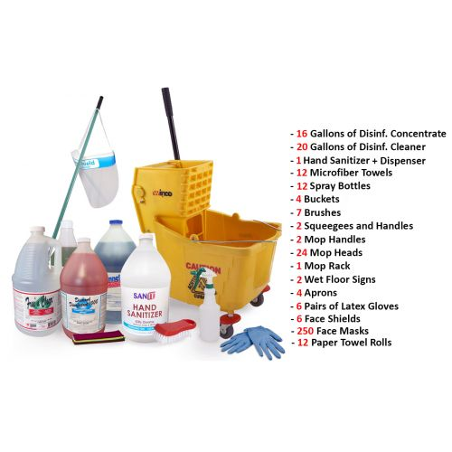 Hospital, Nursing Home, Day Care Cleaning / Disinfecting Package (190 Items)