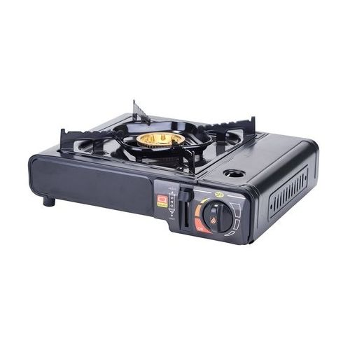 Winco PGS-1K, Portable Gas Cooker, Black, 9500 BTUs, Brass Burner with case