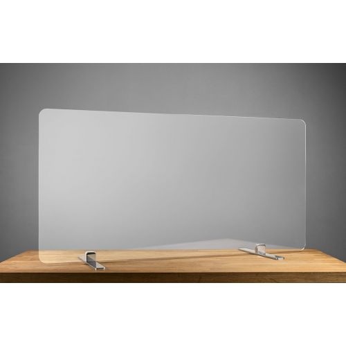 SDPM6 60x24-Inch Free-Standing Acrylic Protective Guard for Countertops w/ Medium Flat Legs 11.5-Inches