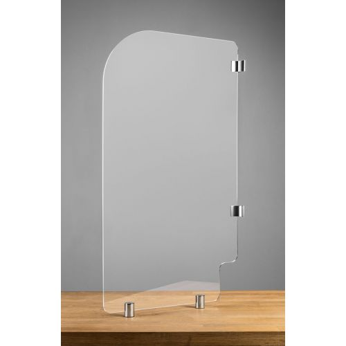 BTHGRD2 28x36-Inch Mounted Acrylic Protective Guard for Restroom, EA