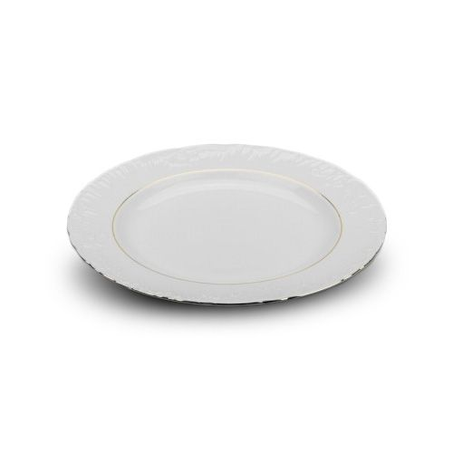 Cmielow PL-25G, 10-Inch Gold Band Porcelain Plate, EA