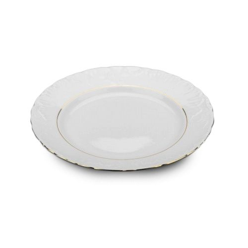 Cmielow PL33G-X, 13-Inch Gold Band Porcelain Plate