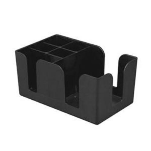 Thunder Group PLBC006, Plastic Bar Caddy 6 Compartment, Black